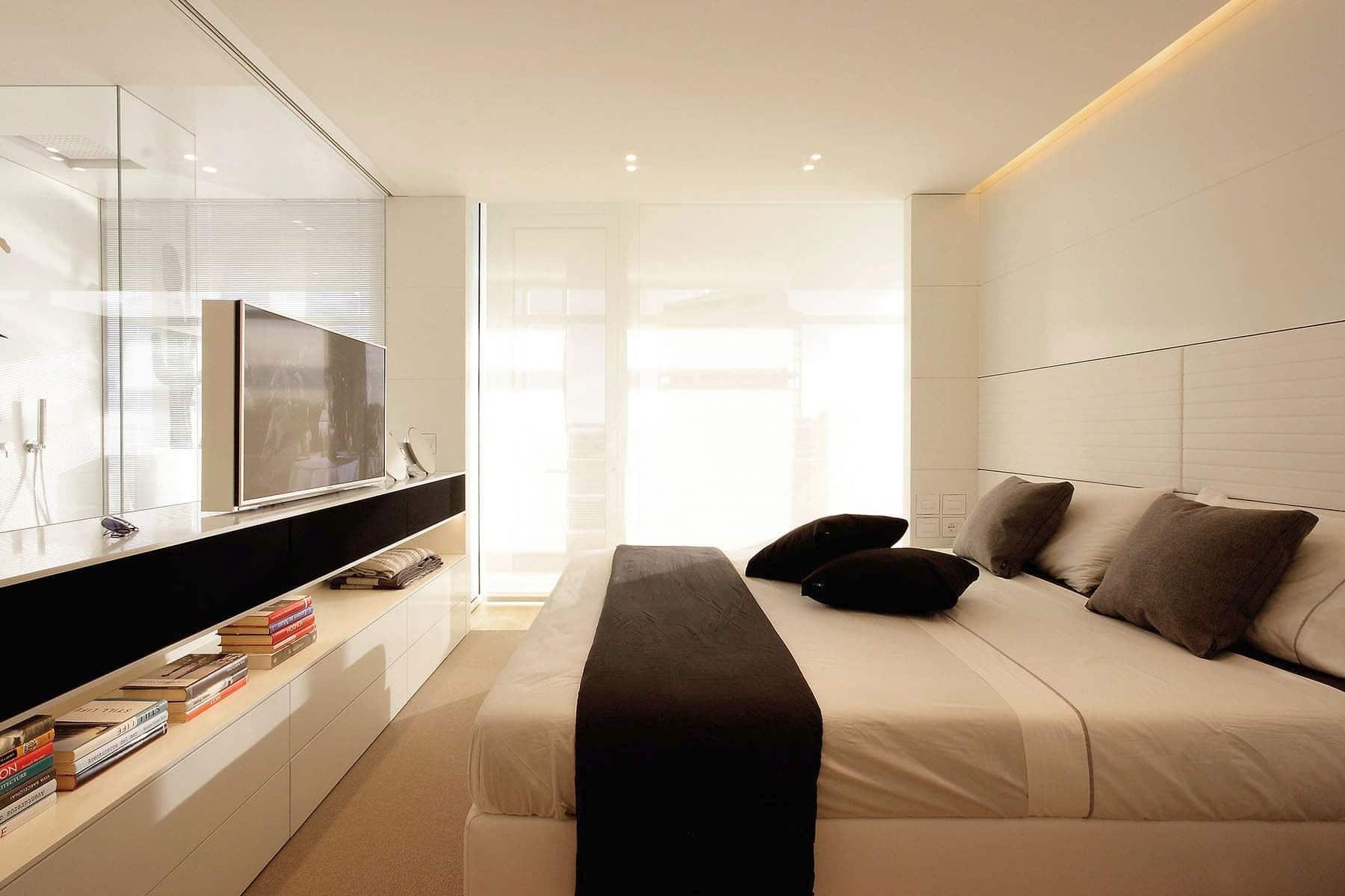 Plano departamento peque o dos dormitorios construye hogar - Dormitorios blancos modernos ...