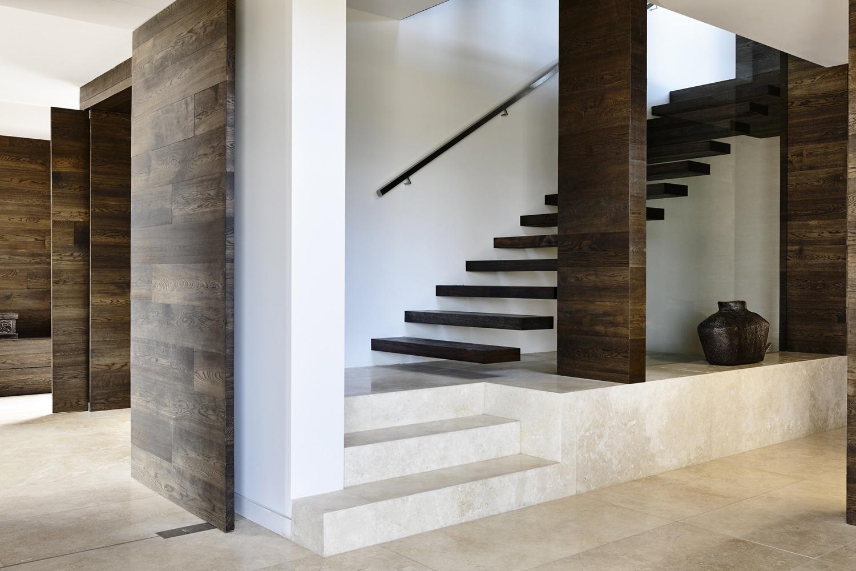 Planos de casa moderna de dos pisos construye hogar - Escaleras de madera modernas ...