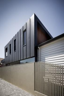 Diseño de fachada en color gris