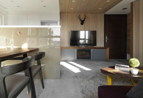 Diseño de interiores de pequeño departamento