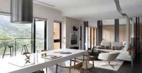 Diseño de sala - comedor departamento pequeño