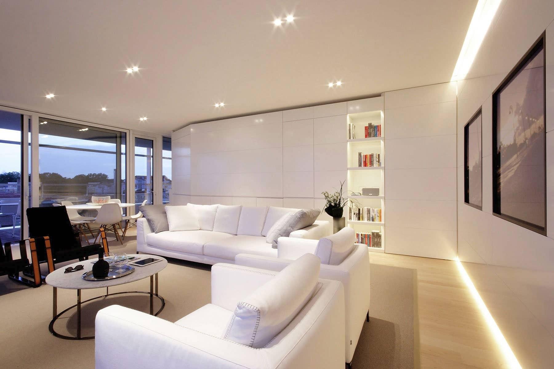Dise o de sala de departamento moderno construye hogar for Diseno de hogar