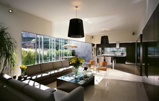 Diseño de sala grande moderna