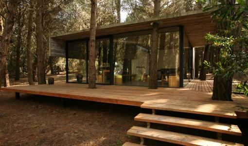 planos de casa de campo de un piso moderna construccin se integra al entorno natural