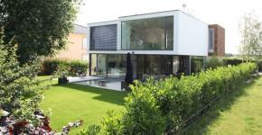 diseo de casa de dos pisos y tres dormitorios moderna estructura exterior y amplios interiores