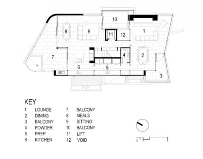 Plano de cas de dos pisos - Segundo nivel