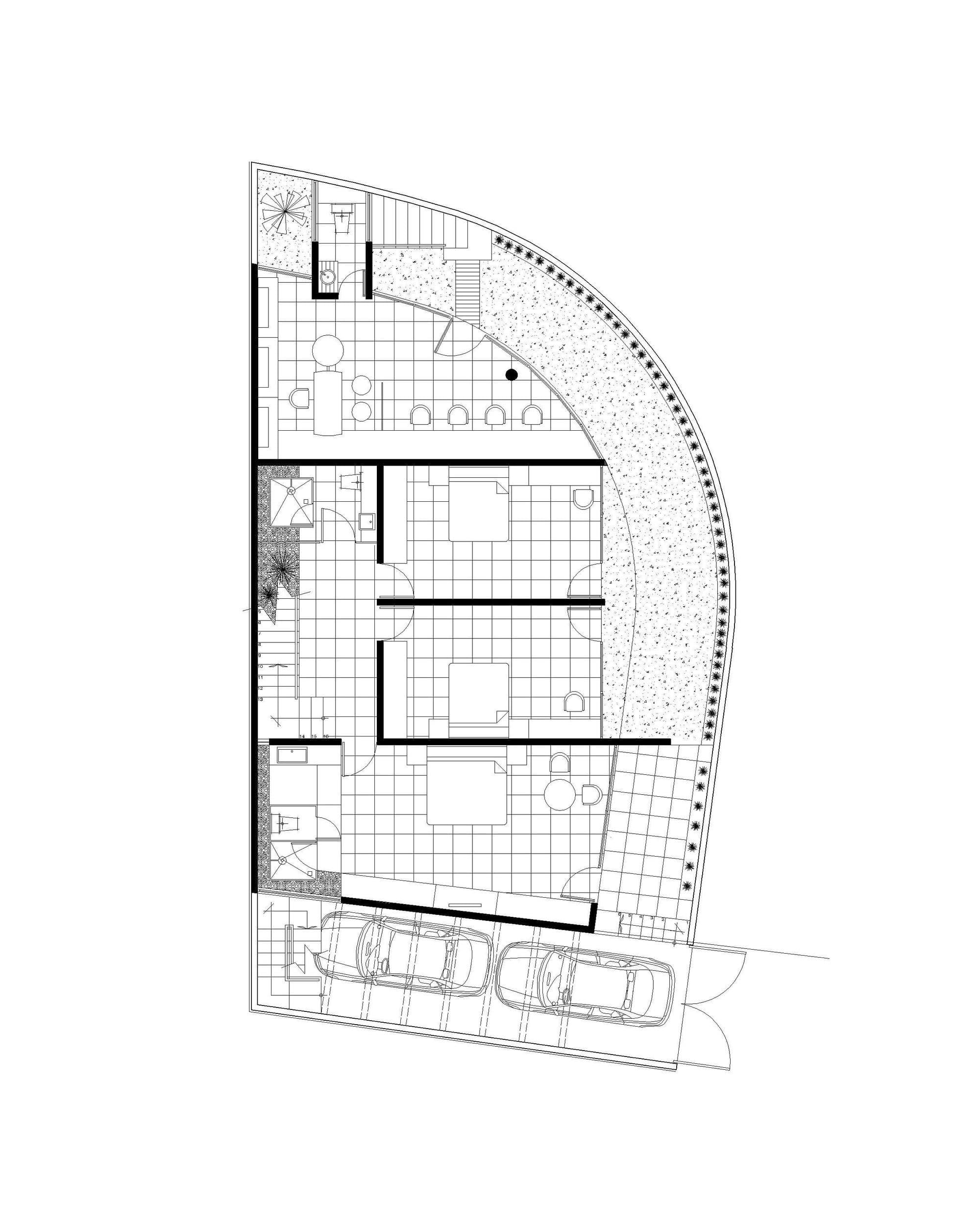 Casa moderna dos pisos tres dormitorios construye hogar for Plano casa moderna 3 habitaciones