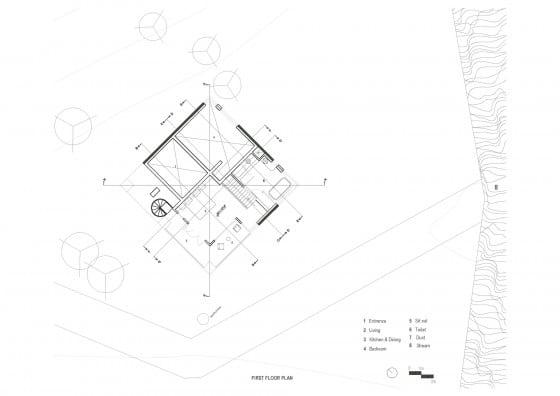 Plano de casa rural - Segundo piso