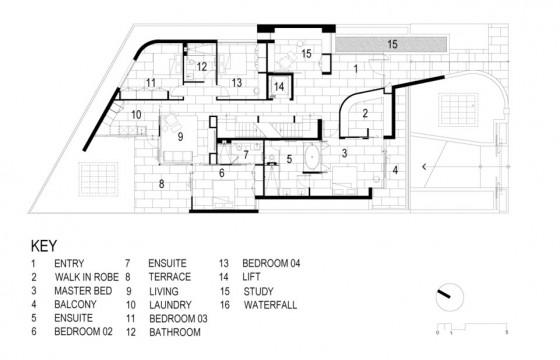Plano de casa de dos pisos - Primer nivel