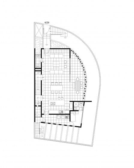 Plano de casa moderna ubicado en esquina