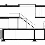 Plano de corte de casa de dos pisos