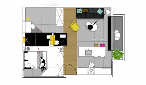 Decoraci n de interiores construye hogar for Decoracion casa 35 metros cuadrados