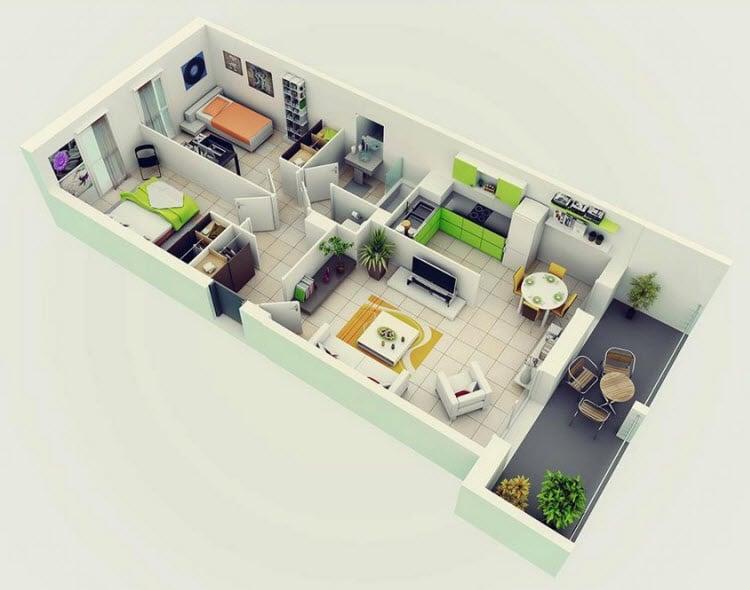 planos de departamentos dos dormitorios construye hogar interior designing tips for 2 bhk flat happykeys