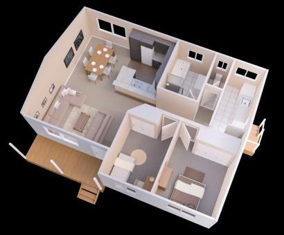 Plano de departamento de dos dormitorios 16