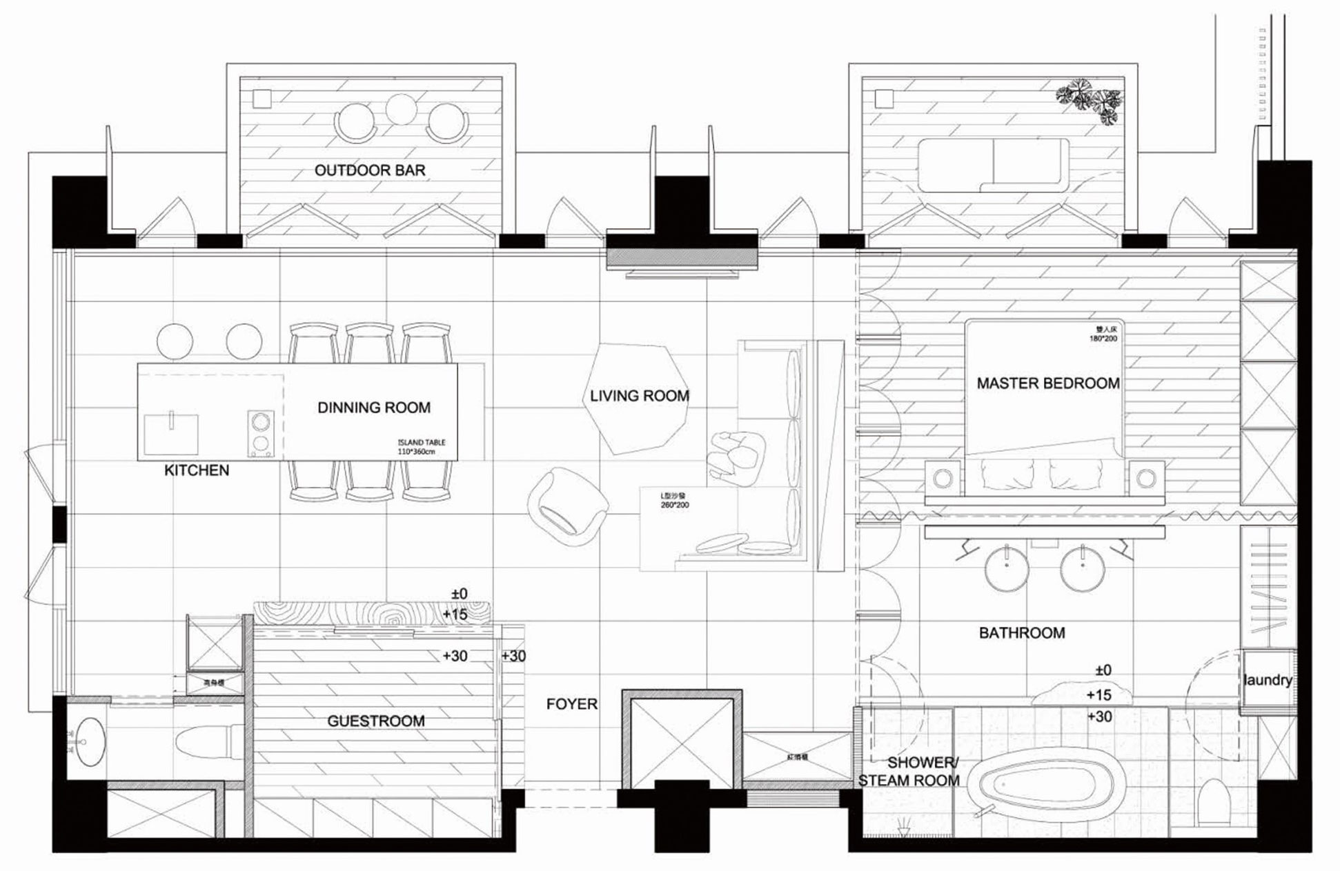 Planos de departamento de un dormitorio construye hogar for Diseno de interiores de casas planos