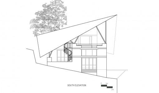 modelo de casa de madera fachada y planos