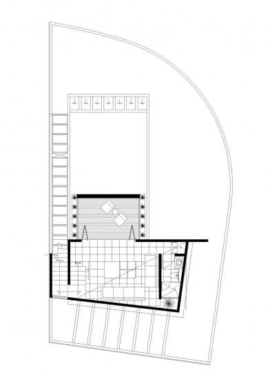Plano de sala estar con terraza 2