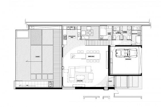 Planos de casa de dos pisos - Primer nivel