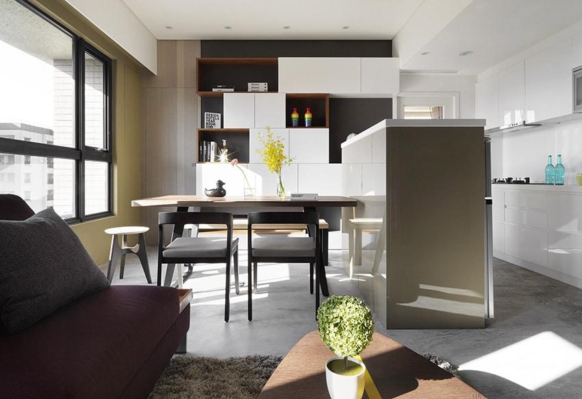 Departamentos peque os 55 metros cuadrados construye hogar for Cocina comedor chico