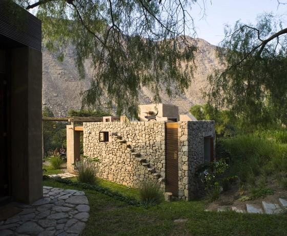 Detalles constructivos con piedra casa de campo