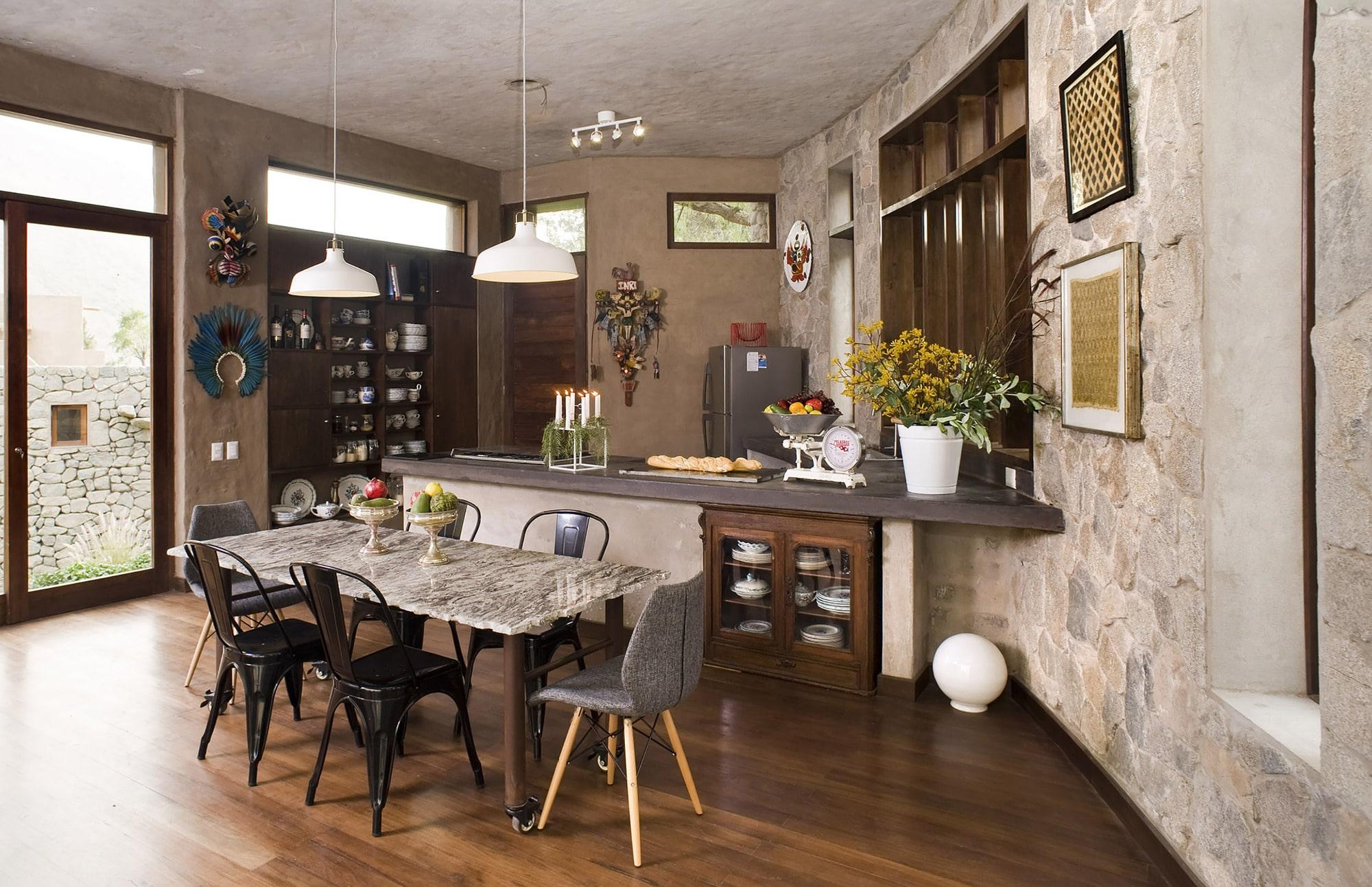 Dise o casa de campo tradicional construye hogar for La cocina en casa