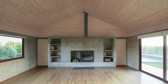 Diseño de chimenea casa de campo