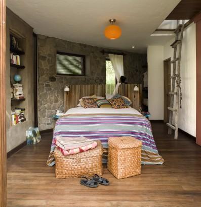 Diseño de dormitorio casa de camo