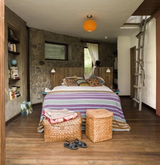 Típico diseño de dormitorio casa de campo