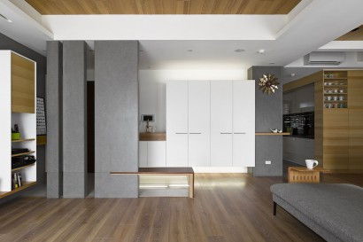 Diseño de interiores departamento moderno 002