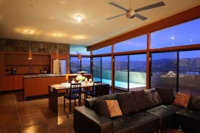 Diseño de sala comedor y cocina casa rural