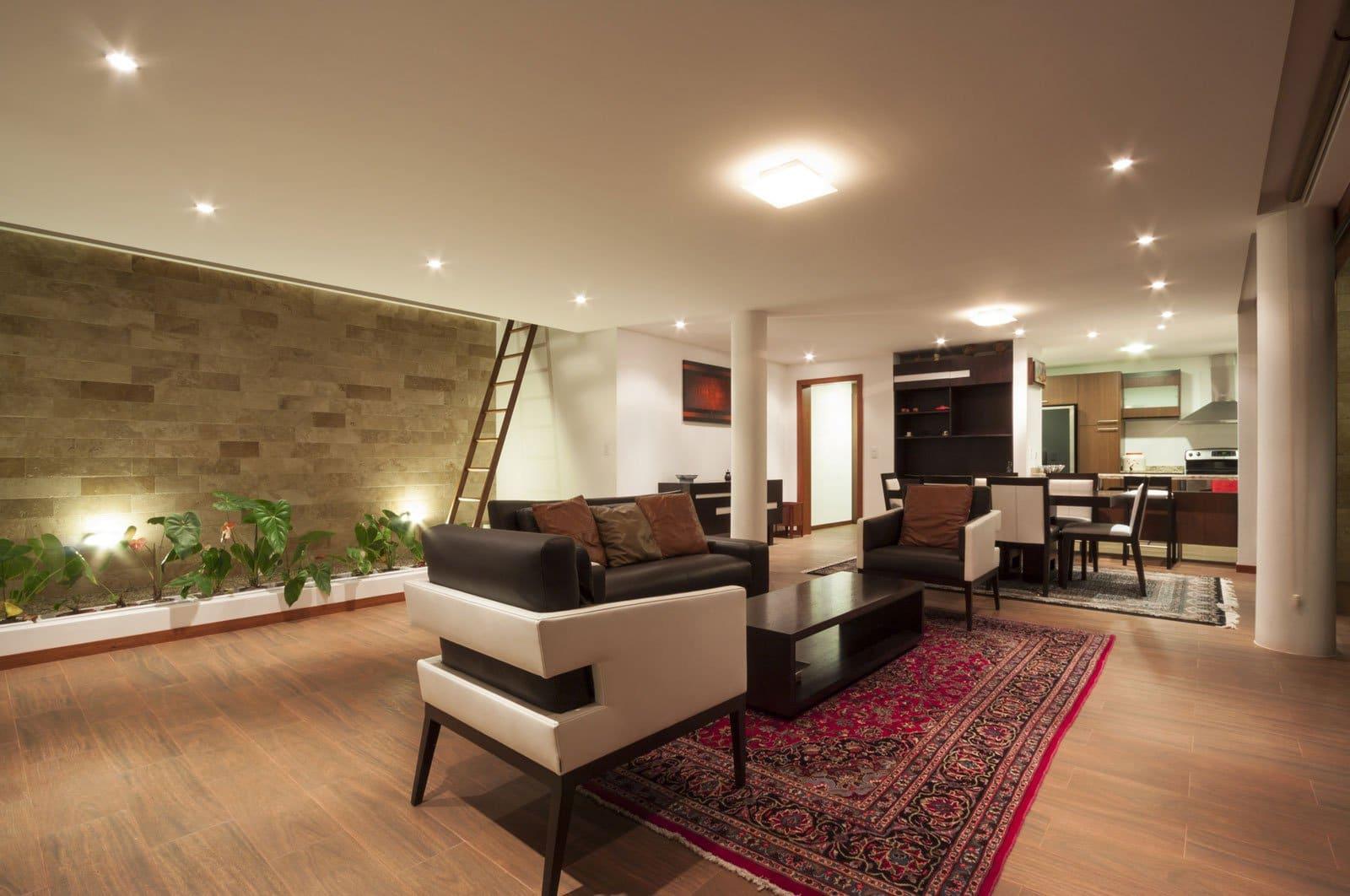 Casa una planta moderna con techo verde construye hogar for Disenos de cocinas comedor modernas