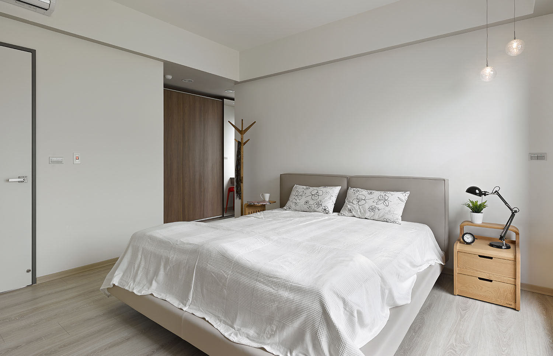 Dormitorio Oficina ~ Plano y diseño de interiores departamento Construye Hogar