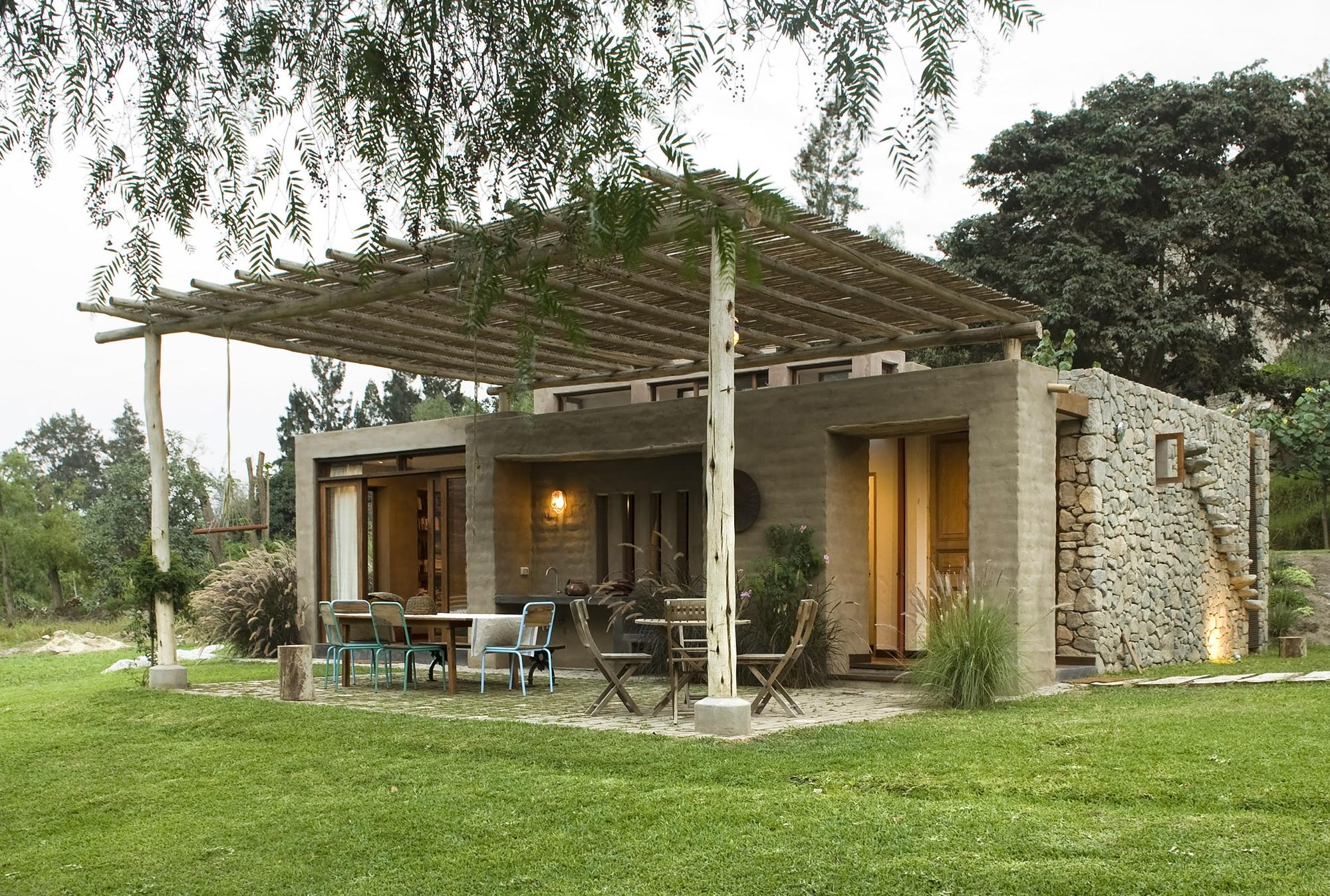 fachada de casa de campo r stico construye hogar