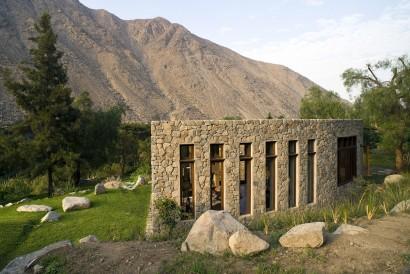 Fachada de piedra casa campo