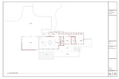 Plano casa de un piso dos dormitorios