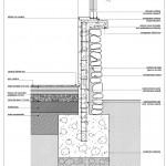Plano de cimentación de casa de un piso