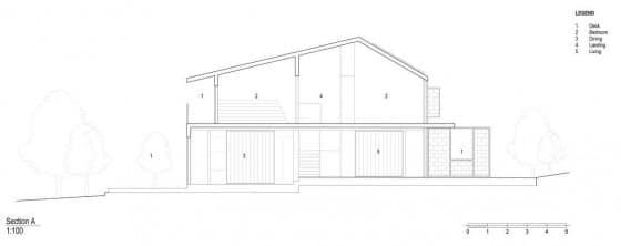 Plano de corte de casa pequeña de madera