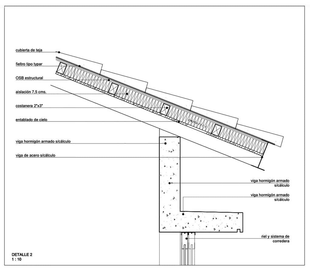 Plano de detalles de techo inclinado construye hogar for Techos planos para casas