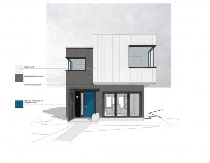 Dise o casa dos pisos moderna construye hogar for Casa moderna revit