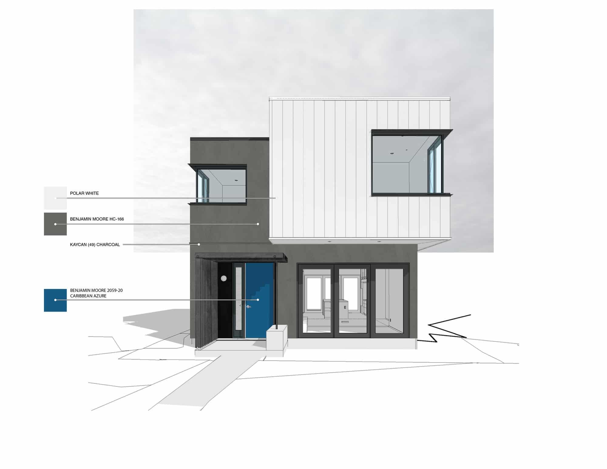 Dise o casa dos pisos moderna construye hogar for Construye hogar