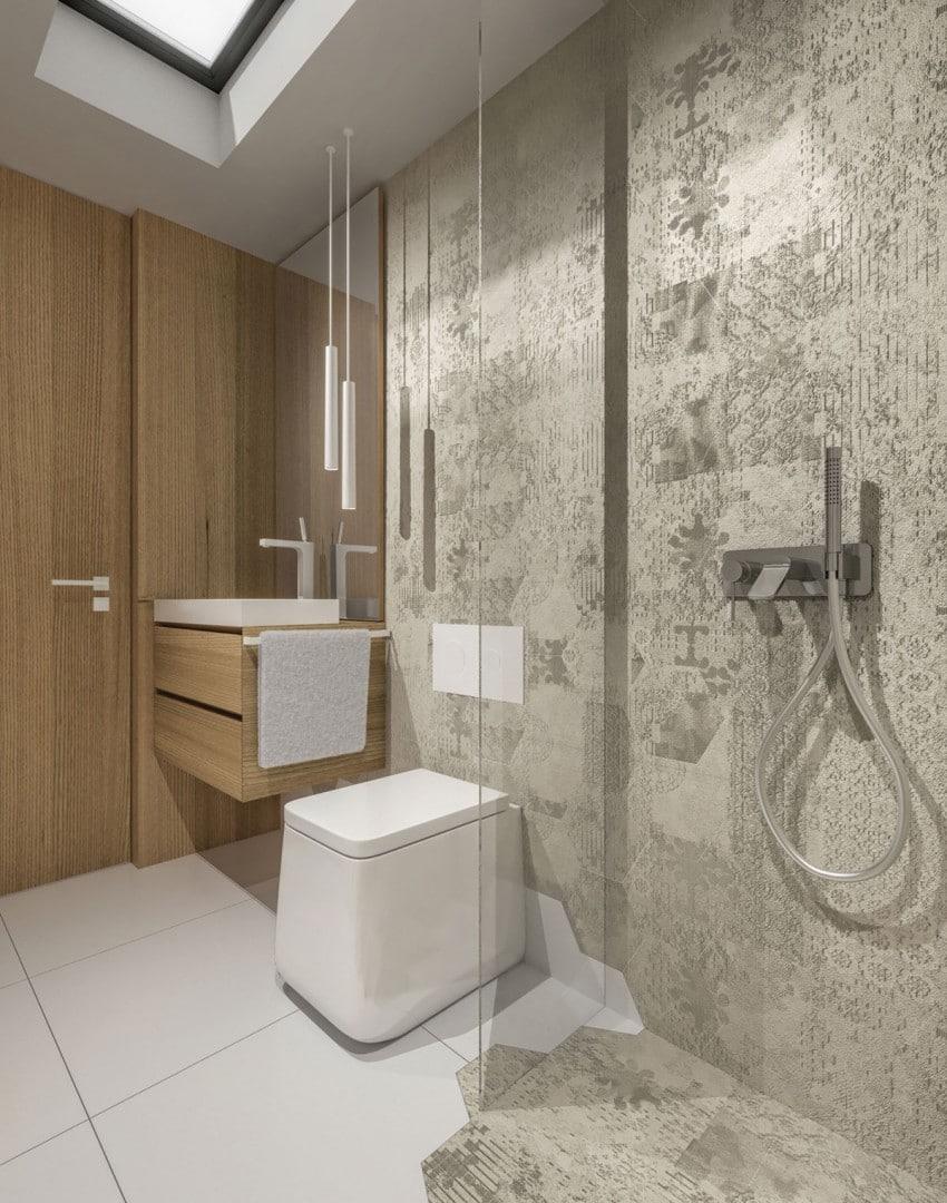 Casa sencilla de un piso en 46 m construye hogar for Cuartos de bano modernos