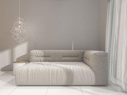 Diseño de sofá con luminarias