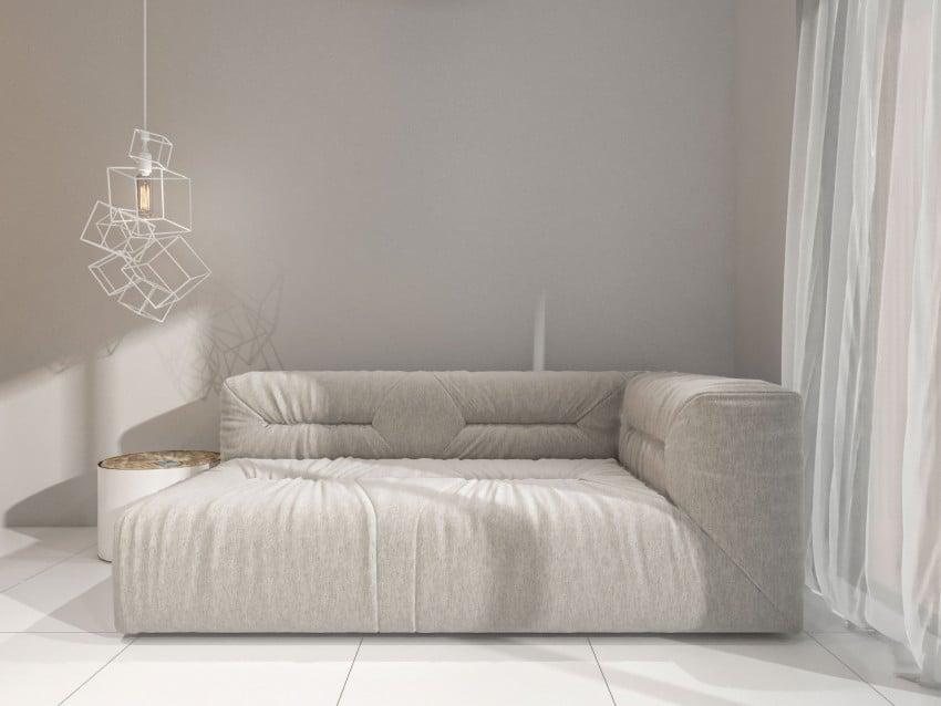 Dise o de sof con luminarias construye hogar for Construye hogar