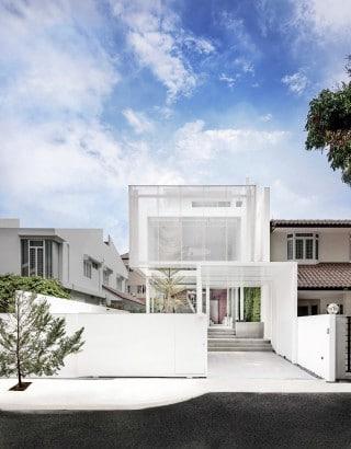 Fachada de casa moderna