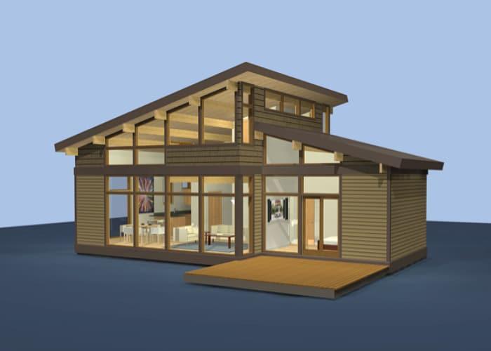 Dise o casas de campo de madera construye hogar for Modelo de casa de campo