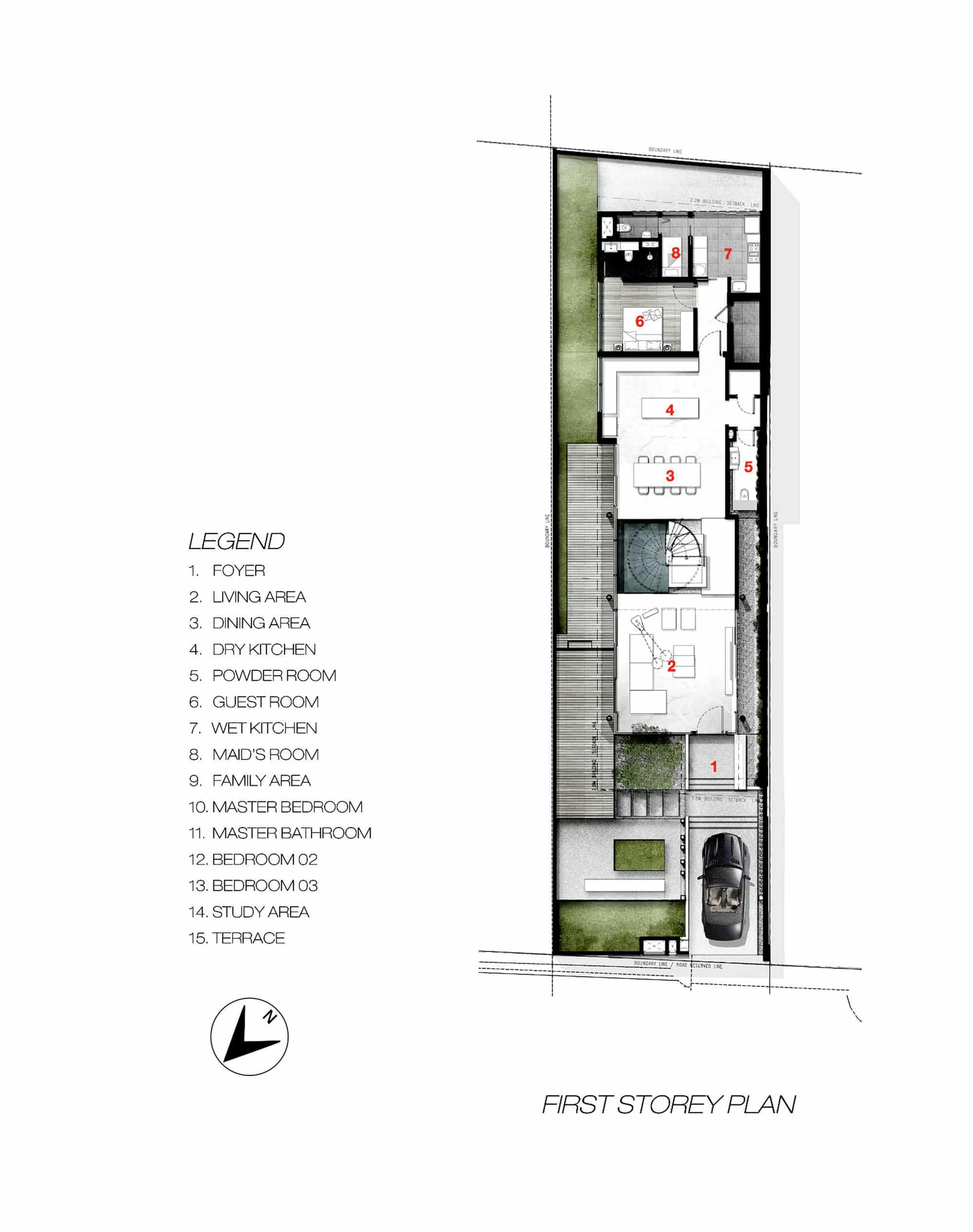 Casa moderna cuatro dormitorios construye hogar - Casas estrechas y largas ...
