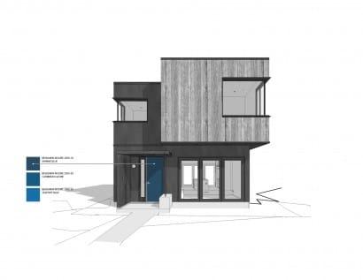 Plano de fachada casa dos pisos