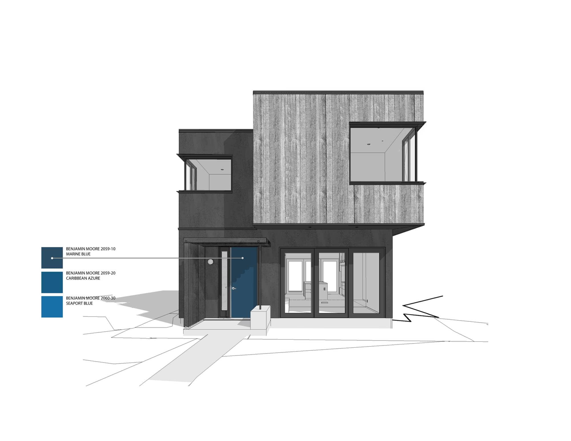 Plano de fachada casa dos pisos construye hogar for Planos y fachadas de casas
