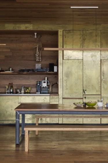 Detalles de cocina comedor con acabados rústico