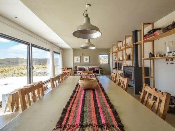 Diseño de comedor casa de campo